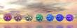 Chakra spheres - 3D render - 79360707