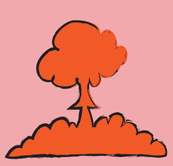 doodle nuclear mushroom cloud