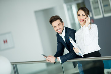 Young couple in the office