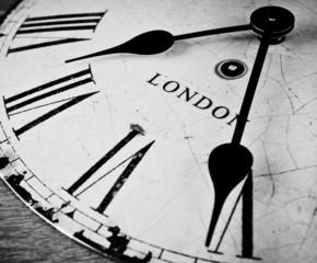 London clock Great British time concept