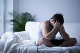Fototapety Young man having depression