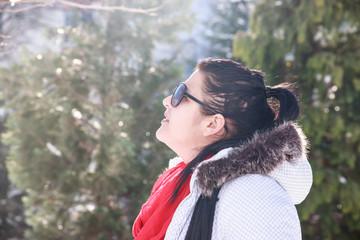 Fark Hair Woman in Winter