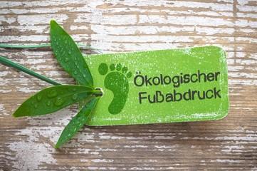 Ökologischer Fußabdruck - Label