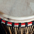 closeup of traditional african drum