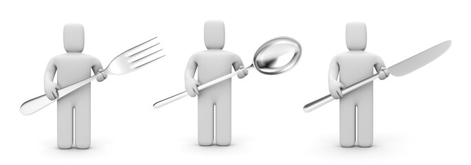 People with kitchen utensil