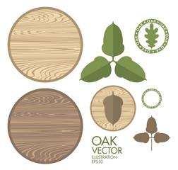 Oak. Acorn. Wood