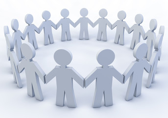 Group of people in a circle