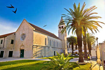 UNESCO town of Trogir church view