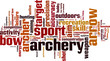 Archery word cloud concept. Vector illustration - 79366334