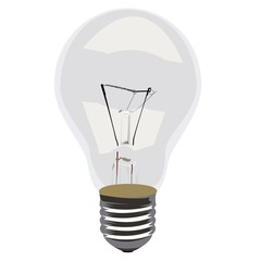 Realistic illustration single lamp