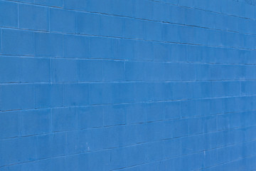 Muro blu d'argilla