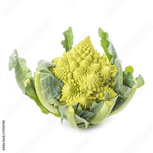 Romanesco broccoli verdura aislada sobre fondo blanco