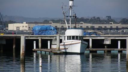 Small Fishing Boat at Dock