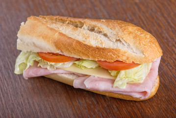 Nice ham sandwich