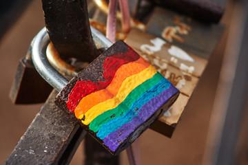 LGBT rainbow lock