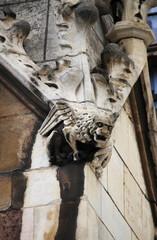 Gargoyle in Westminster Palace in London, UK
