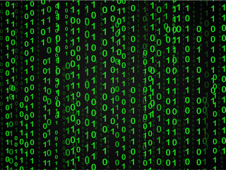 Matrix or spy background with green numbers