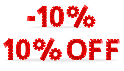 Sign for 10 percent sale