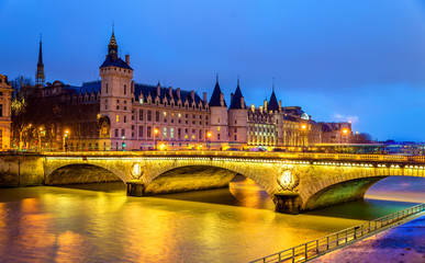 The Pont au Change and the Conciergerie in Paris - France