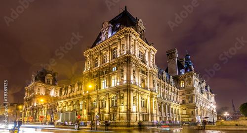 Hotel de Ville (City Hall) of Paris - France