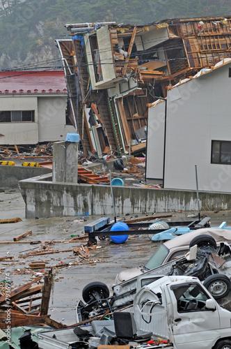東日本大震災津波被害 - 79369374