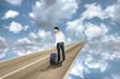 Man Walks to New Life