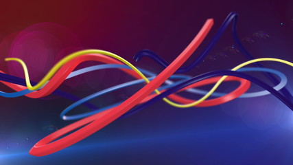 Colorful Abstract Lines Computer Animation. Loop animation.