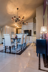 Elegant dining room interior