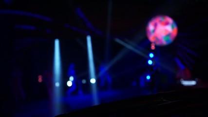 abstract lights night club scene