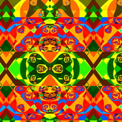 Psychedelic Colorful Fractal Composition. Abstract Background.
