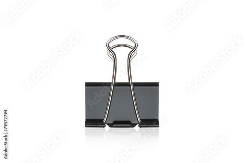 Clip black for document or paper clip attachment - 79372794