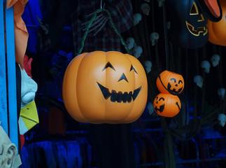 Spooky Halloween Jack o Lantern close up