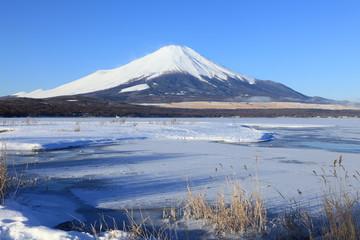 冬富士 山中湖にて