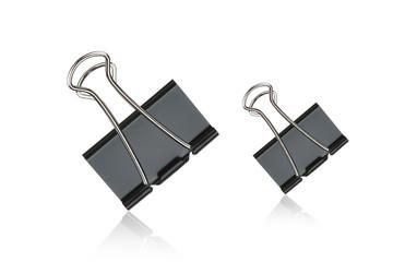 Clip black for document or paper clip attachment