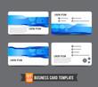 Business Card template set  006 Gear technology concept  busines