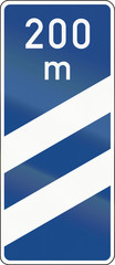 Highway Countdown Marker 200 Meters
