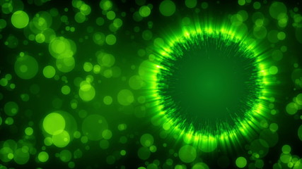 abstract loop motion background, particle green element