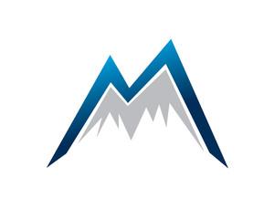 M Initials mountain