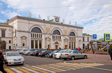 Здание городского железнодорожного вокзала в Витебске. Беларусь