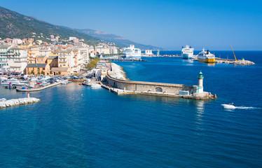 Corse, Bastia, port de commerce et de plaisance