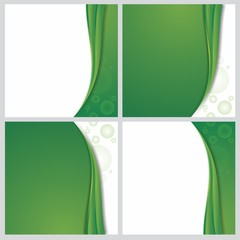 abstract green background template illustration