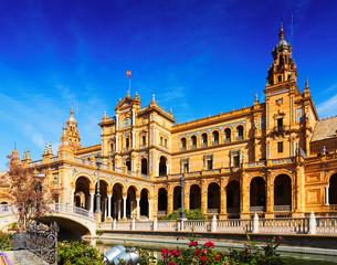 central building at  Plaza de Espana. Seville
