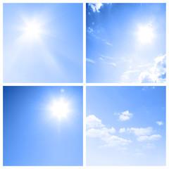 Sonne und Wolken Kollage