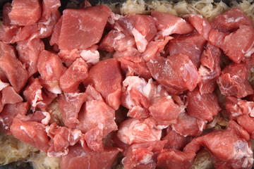 raw pig meat