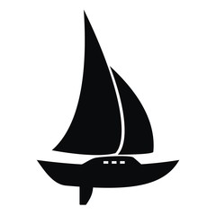 sail with keel, icon