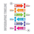 Infographic vector concept - timeline vertical