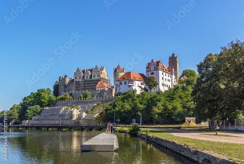 Leinwanddruck Bild castle in Bernburg, Germany