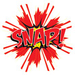 SNAP! wording sound effect set design for comic background