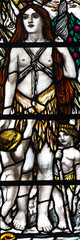 Eve in stained glass