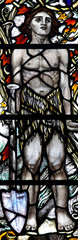 Adam in stained glass